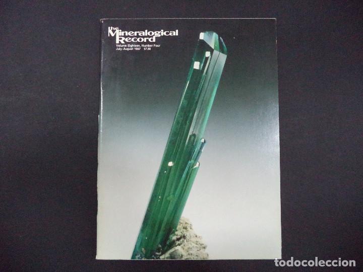 Coleccionismo de minerales: 4 revistas Mineralogical Record -1987 - Foto 3 - 118022871