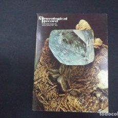 Coleccionismo de minerales: 4 REVISTAS MINERALOGICAL RECORD -1980. Lote 118022991
