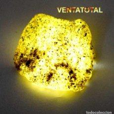 Coleccionismo de minerales: ZAFIRO AMARILLO EN BRUTO DE 125,50 KILATES CON CERTIFICADO IGL MEDIDA 3,7 X 3,6 CENTIMETROS -Nº10. Lote 118539803