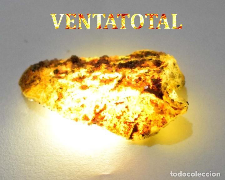 ZAFIRO AMARILLO EN BRUTO DE 57,05 KILATES CON CERTIFICADO IGL MEDIDA 4,2 X 2,3 CENTIMETROS -Nº11 (Coleccionismo - Mineralogía - Otros)