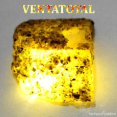 Coleccionismo de minerales: ZAFIRO AMARILLO EN BRUTO DE 52,05 KILATES CON CERTIFICADO IGL MEDIDA 2,9 X 2,3 CENTIMETROS -Nº7. Lote 118545571