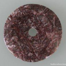 Coleccionismo de minerales: PRECIOSO PIEDRA MINERAL TALLADO Y PULIDO DIAMETRO EXTERIOR 5,5 CM DIAMETRO INTERIOR 0,8 CM PESO 29 G. Lote 121533839