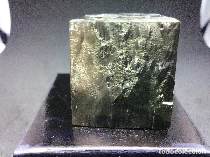 Coleccionismo de minerales: PIRITAS - CURIOSO CUBO DE PIRITA - ESPAÑA - Foto 3 - 121558743