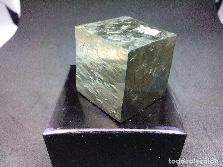 Coleccionismo de minerales: PIRITAS - CURIOSO CUBO DE PIRITA - ESPAÑA - Foto 4 - 121558743