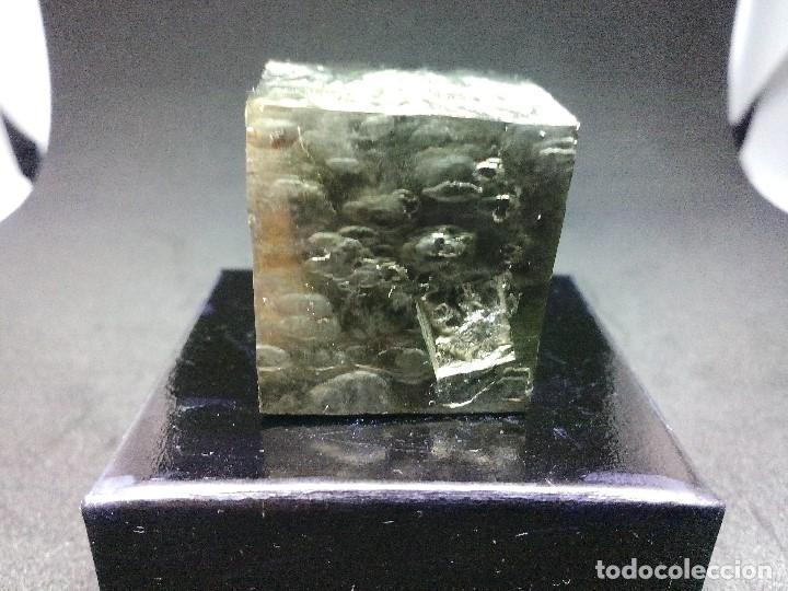 Coleccionismo de minerales: PIRITAS - CURIOSO CUBO DE PIRITA - ESPAÑA - Foto 5 - 121558743