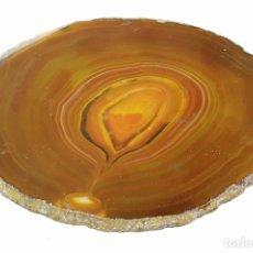 Coleccionismo de minerales: AGATA GRAN DISCO DE 12CM. DE DIÁMETRO PULIDO POR DOS CARAS CON GEODA INTERIOR. Lote 123237367