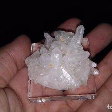 Coleccionismo de minerales: DRUSA DE CUARZO LECHOSO ( OURENSE ). Lote 128748215