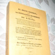 Coleccionismo de minerales: EL REINO MINERAL, O SEA LA MINERALOGIA EN GENERAL Y EN ESPAÑA-FACSIMIL REPRODUCE LA EDICIÓN DE 1832. Lote 129037607