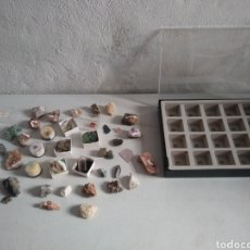 Coleccionismo de minerales: MINERALES+CAJA EXPOSITORA.. Lote 130555643