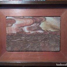 Coleccionismo de minerales: CUADRO CON TROZO DE MINERAL PIEDRA COMPRADO EN COLORADO EN LOS AÑOS 70. Lote 132381070
