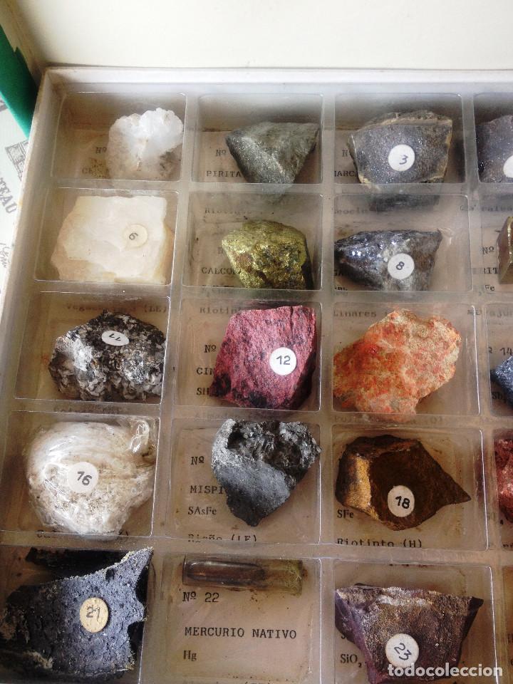 Coleccionismo de minerales: Caja Coleccion Minerales PEÑARROYA Minera- 25 minerales- Muy dificil- - Foto 2 - 132855126