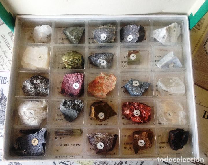 Coleccionismo de minerales: Caja Coleccion Minerales PEÑARROYA Minera- 25 minerales- Muy dificil- - Foto 5 - 132855126