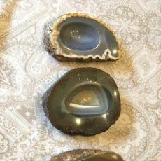 Coleccionismo de minerales: LOTE 3 GEODAS CON FORMA DE CENICERO. Lote 137143770