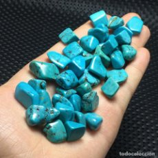 Coleccionismo de minerales: LOTE PIEDRAS DE TURQUESA EN BRUTO, 84 GRAMOS, 40 PIEDRAS, IDEAL ENGARZAR EN JOYAS O PARA REGALOS. Lote 177091302