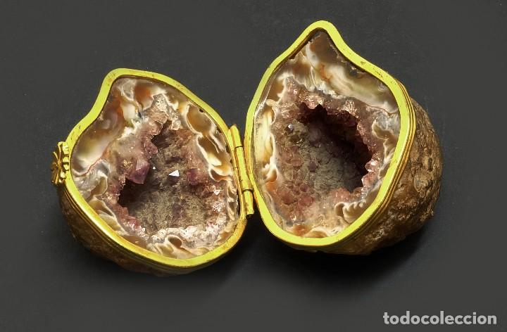 Coleccionismo de minerales: Caja Geoda de amatista - Bellísima Geoda convertida en caja - El Arte en la Historia Natural - Foto 2 - 139088722