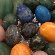 Coleccionismo de minerales: 20 GEMAS/MINERAL FORMAS VARIADAS, HUEVO, CORAZÓN, ÓVALO.... Lote 140981498