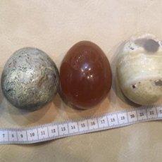 Coleccionismo de minerales: LOTE DE 5 HUEVOS DE PIEDRA. Lote 147189434