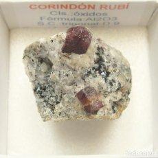 Coleccionismo de minerales: CORINDÓN RUBÍ. Lote 147929338