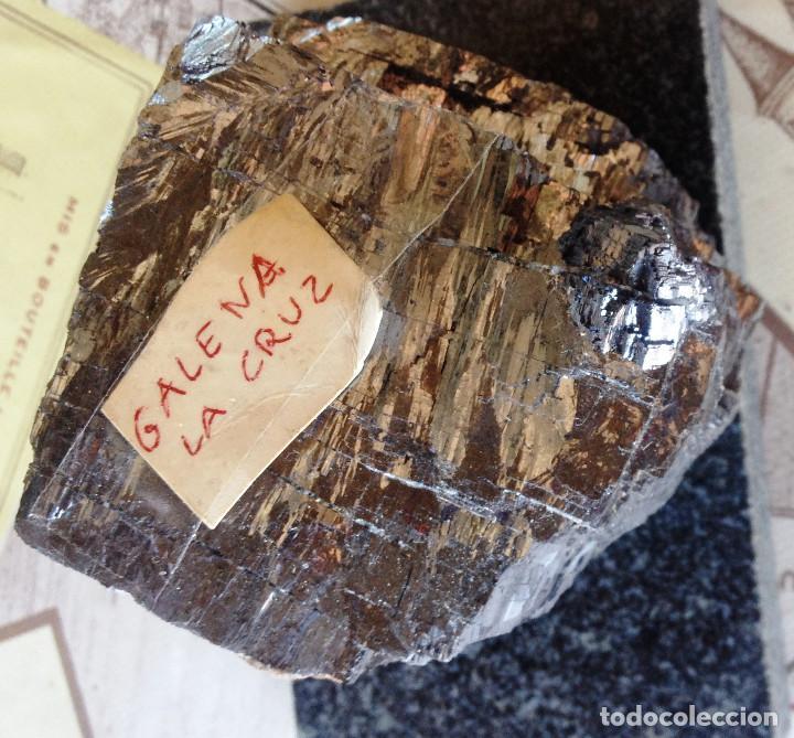GALENA- MINA DE LA CRUZ- GRAN PIEZA- (Coleccionismo - Mineralogía - Otros)