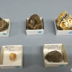 Coleccionismo de minerales: MINERALES.: ANDRADITA, ARAGONITO, LOLLINHITA, ORTOSA. Lote 151637585