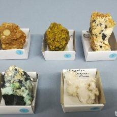 Coleccionismo de minerales: MINERAL - VARIACITA, TURMALINA, ARAGONITO, ILLITA, TINTICITA. Lote 151641085