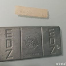 Coleccionismo de minerales: LINGOTE DE METAL EDZ- NUMERADO- ESPAÑOLA DE ZINC-MADE IN SPAIN. Lote 153295954