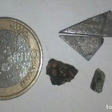 Coleccionismo de minerales: LOTE DE CINCO METEORITOS AUTENTICOS DIFERENTES PARA CLASIFICAR, ALTO VALOR Y GRAN VARIEDAD. . Lote 156085230