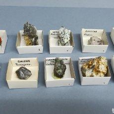 Coleccionismo de minerales: 10 MINERALES - YESO, CUARZO PRASIO, GALENA, ARSENOPIRITA, VARISCITA, MICROCLINA, ESFALERITA, BARITA,. Lote 156651306