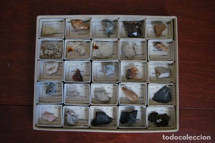 Coleccionismo de minerales: COLECCIÓN DE 100 MINERALES - CAJA DE CARTÓN CON CUATRO BANDEJAS - ESCUELA - FACULTAD - AÑOS 50-60 - Foto 13 - 160797058