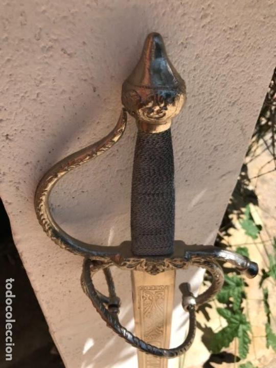 Coleccionismo de minerales: Espada Colada Cid Campeador. 103 cms - Foto 11 - 161558050