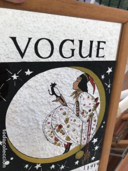 Coleccionismo de minerales: Espejo Publicidad Vogue año 1919 - Foto 3 - 161560194