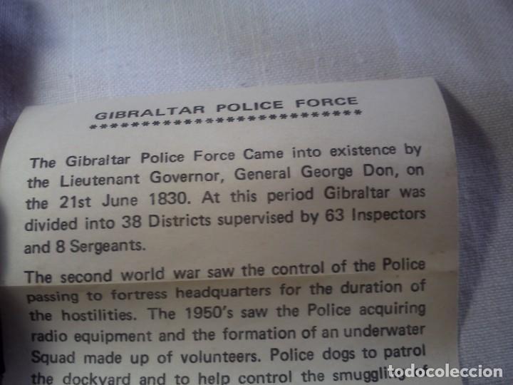 Coleccionismo de minerales: GIBRALTAR POLICE FORCE. SOUVENIR OF GIBRALTAR. - Foto 3 - 161966402