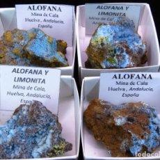 Coleccionismo de minerales: 1 ALOFANA - MINA CALA, HUELVA, ESPAÑA. EN CAJITA DE MINERALES 4 X 4CM. Lote 166265986