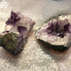 Coleccionismo de minerales: GEODA MINERAL AMATISTA PARTIDA 2 FRAGMENTOS 15X19 CM. Lote 171456367