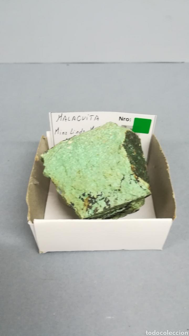 MALAQUITA - MINERAL EN CAJA 6,5X6,5CM (Coleccionismo - Mineralogía - Otros)