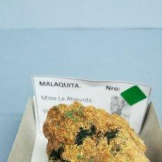 Coleccionismo de minerales: MALAQUITA - MINERAL EN CAJA 6X6 CM. Lote 171815329