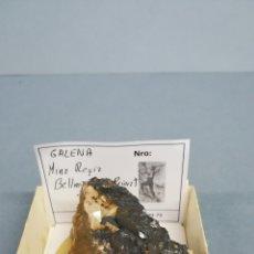 Coleccionismo de minerales: GALENA - MINERAL. EN CAJA 6X6 CM. Lote 172770755