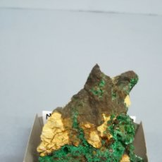 Coleccionismo de minerales: MALAQUITA + CALCOPIRITA - MINERAL. EN CAJA 4X4 CM LM1. Lote 177460275