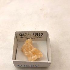 Coleccionismo de minerales: PIEDRA NATURAL CALCITA FUEGO BRASIL. Lote 177775840