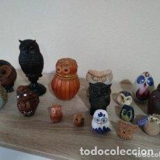 Coleccionismo de minerales: COLECCIÓN DE BÚHOS. Lote 178067007
