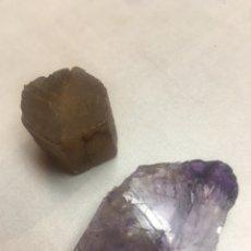 Coleccionismo de minerales: PIEDRAS MINERALES - SIN IDENTIFICAR - 2 PIEZAS. Lote 178855377