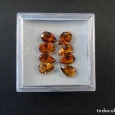 Coleccionismo de minerales: TOPACIOS PAPARACHA TALLA PERA. MED. 6 X 9 MM. PESO 8,10 KTS. BRASIL, AÑOS 80-90. Lote 179395345