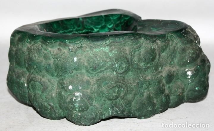 Coleccionismo de minerales: PRECIOSO - CENICERO - MALAQUITA - ANTIGUO - 5,800 GRAMOS. - Foto 5 - 183213073