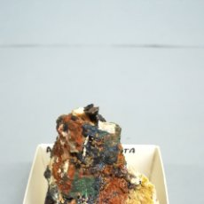 Coleccionismo de minerales: AZURITA - MINERAL. EN CAJA 4X4 CM LM1. Lote 184428196