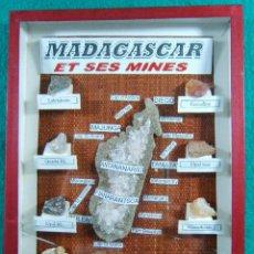 Coleccionismo de minerales: MADAGASCAR ET SES MINES-MAJUNGA-ANTANANARIVO-10 RAROS MINERALES MINAS DE LA ISLA-1980 ?.. Lote 189467876