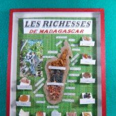 Coleccionismo de minerales: LES RICHESSES DE MADAGASCAR-DIEGO-ANTANANARIVO-MAJUNGA-11 MINERALES MINAS ISLA-PRECIOSO-AÑOS 80. . Lote 189468315