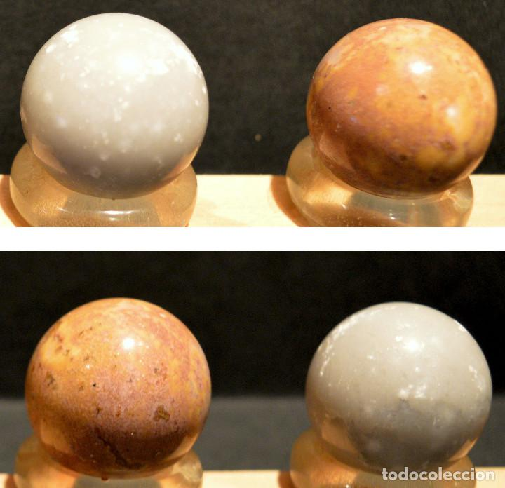 Coleccionismo de minerales: LOTE 5 BOLAS MINERAL CON EXPOSITOR ESFERAS PIEDRA - Foto 5 - 189498940