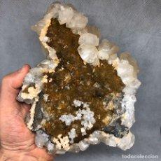 Coleccionismo de minerales: CALCITA Y MARCASITA EN FLUORITA CALCITE & MARCASITE ON FLUORITE. Lote 190553521