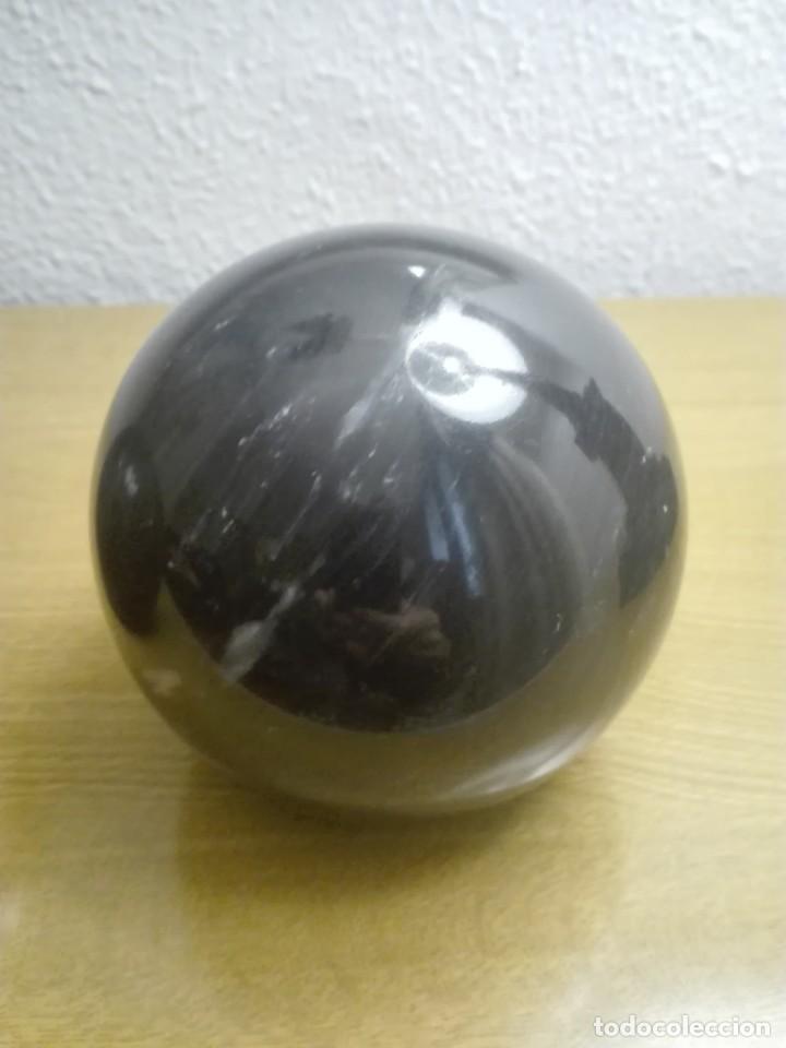 Coleccionismo de minerales: Pareja de bolas de mármol negro - Foto 2 - 190593767
