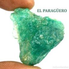 Coleccionismo de minerales: ESMERALDA EN BRUTO DE 49,70 KILATES CON CERTIFICADO AGI - MEDIDA 2,8 X 2,6 X 1,7 CENTIMETROS Nº3. Lote 191944133